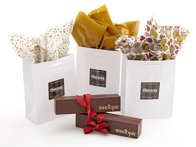 Gift bags chococoa baking company chococoa baking offers packaging for every occasion check our selection of gift boxes complimentary gift bags and tissue throughout the year in our caf negle Image collections